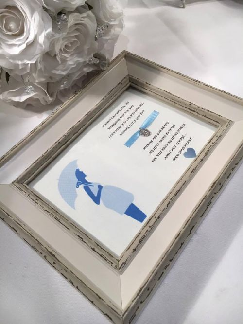 Mummy to be frame blue